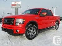 This Race Red four wheel-drive Ford F-150 is powered by