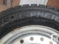 Used 4 Hemisphere Arctic Winter Tires with 4 Rims -