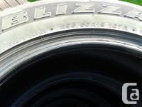 4 Used Bridgestone Blizzak Winter Tires 235/60R18 in