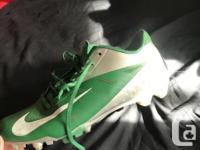 Nike Green cleats size 12.5 men Under highlight cleats