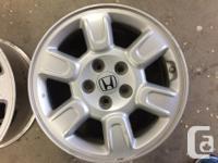 For sale 4 Honda Ridgeline OEM wheels. These wheels are