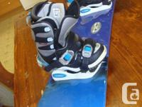 Used ladies snowboard & boots for sale.