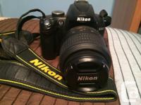 Selling a used Nikon D5000 SLR. Comes with a Nikon AF-S