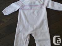 Once, worn. 12-18 Month JOE Fresh sweatshirt romper -