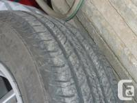 I have 4 new tires on rims (rims can be removed for