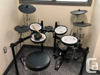The drums are in used but very good condition. Great