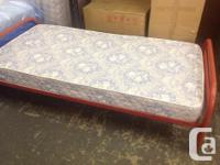 Used single bed frame...headboard, footboard, and side