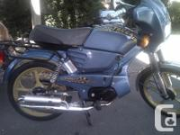 kms 12000 This tomos moped has no pedals so technically