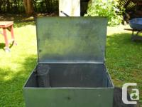 "Sheet Metal Utility Box - Sits on a 1 1/2"" Angle Iron"