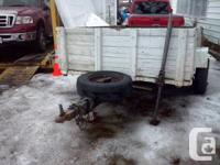 I have for sale a u built utility trailer it takes a 1-