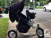 3 wheel, all landscapes stroller. Great for montreal