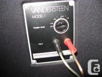 Selling my Vanderstein 1b speakers...excellent for