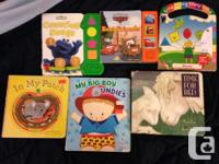 Various baby and toddler books. In ok condition, some