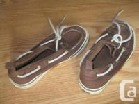 1) Brownish GYMBOREE Slip-On Shoes - Dimension 12.