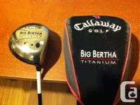 Callaway Big Bertha Titanium Driver - 9 degree,