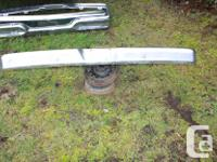Various older FORD CHROME BUMPERS and bumper brackets