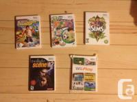 All Discs are in excellent condition, Wii Play is $2