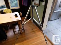 Solid, all metal, Velbon studio tripod good for video