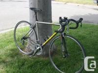 Available is a Litespeed Veneto titanium bike. Scarcely