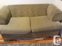 French Below Sell :  Sofa 30$  Green convertible sofa