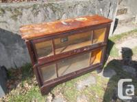Here is a neat old barristers bookcase for sale. Viking