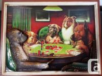 WOWOWOW!Picture-C.M. Coolidge-Dogs playing Poker-A Bold