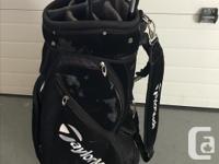 Big Black Taylor made Cart Golf Bag - $25.00. Moving
