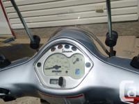 Make Vespa Year 2007 kms 25000 It is 150 cc. I but it