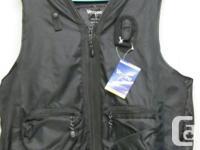 VEZZEO brand black nylon all purpose/multi use vest.
