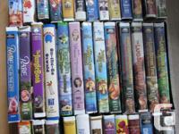 50 children's VHS all in working order. 19 DVD's in