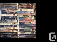 VHS Disney & Pixar & More Movies Selling $2 each or