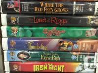 VHS Massive Movie Lot 38 VHS Tapes Selling individually
