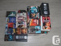 I got a box full of VHS tapes for sale. Movies in