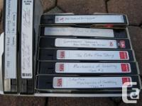 FREE: More than 2 dozen VHS tapes. Hope you can read
