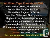 Have your tapes and films professionally transferred to