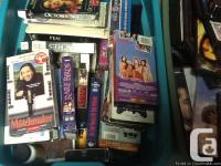 Selling Classic VHS flicks as well as DVDs: Disney,
