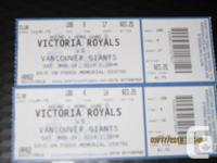 Victoria Royals Playoff Tickets - Club Seats - Round 1