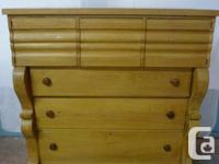 Superb solid pine bonnet chest in fantastic condition,