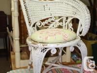 Victorian Era Wicker Side Chair in amazing condition