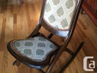 Antique Victoria wooden folding rocking chair - nursing