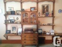 Immaculate Vilas Maple Buffet, Large China Cabinet &