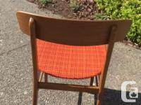 Set of 4 Mid-century teak dining room chairs Made in