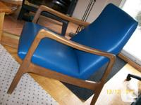 Vintage 1960's vinyl lounge chair, made by Henderson