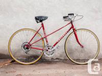 Vintage 1979-1983 era Peugeot woman road bike in an