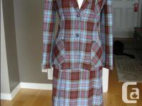 Vintage 60's?? 3 piece tartan wool suit by Sporttire -