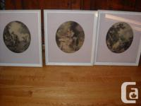 This set of 3 vintage prints of the Victorian era. They