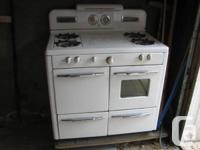 Vintage/antique Gurney gas stove range c1940's. It has