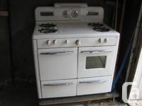 Vintage/antique Gurney gas stove range c1940's. It has