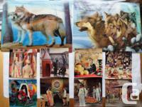 3D Lenticular Poster Framed Family of Wolves Size 11.75
