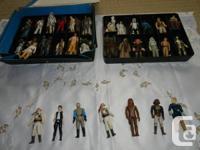 I am selling  40 used vintage Star Wars figures. Asking
